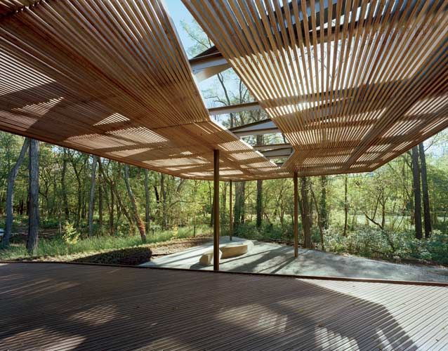 Ruth Lilly Visitors Pavilion by my man Marlon Blackwell.