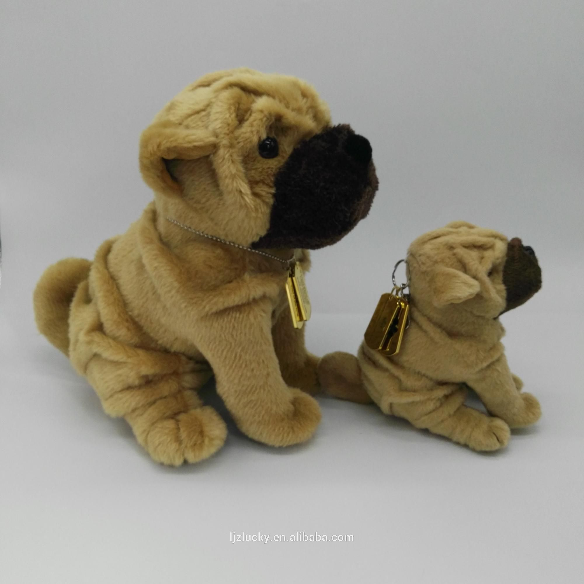Factory Wholesale Soft And High Quality Plush Shar Pei Dog Stuffed