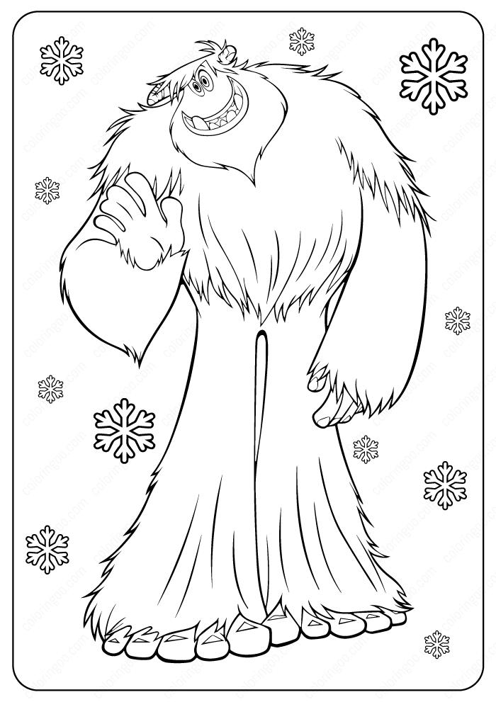 Printable Yeti Bigfoot Coloring Pages Yeti Bigfoot Cartoon Coloring Pages Bigfoot Drawing