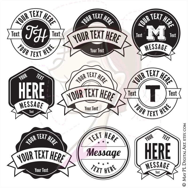 Monogram Frames Download - Round and Hexagon Clipart with Banners ...