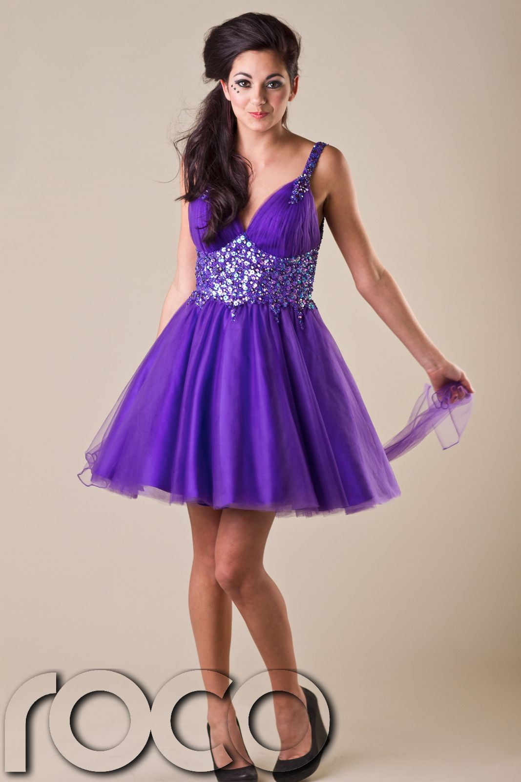 Details about Girls Purple Prom Dresses Girls Designer Prom ...