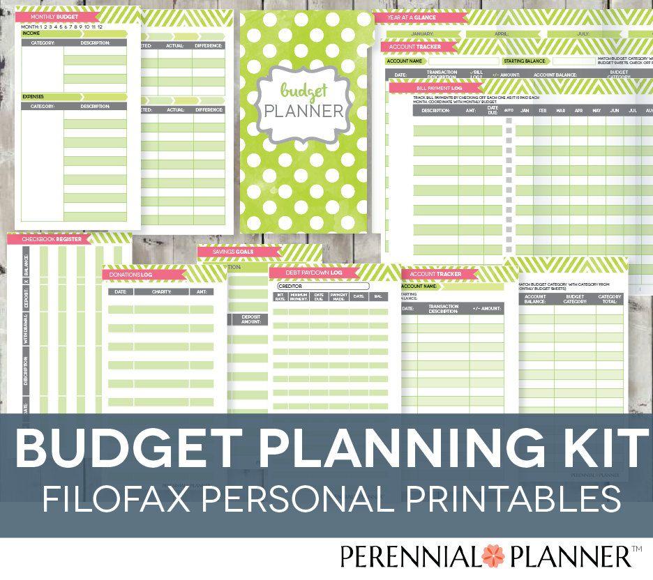 Filofax Personal Budget Planner Printable Finance Organizer