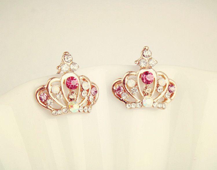Princess Crown Earrings Fashion 3
