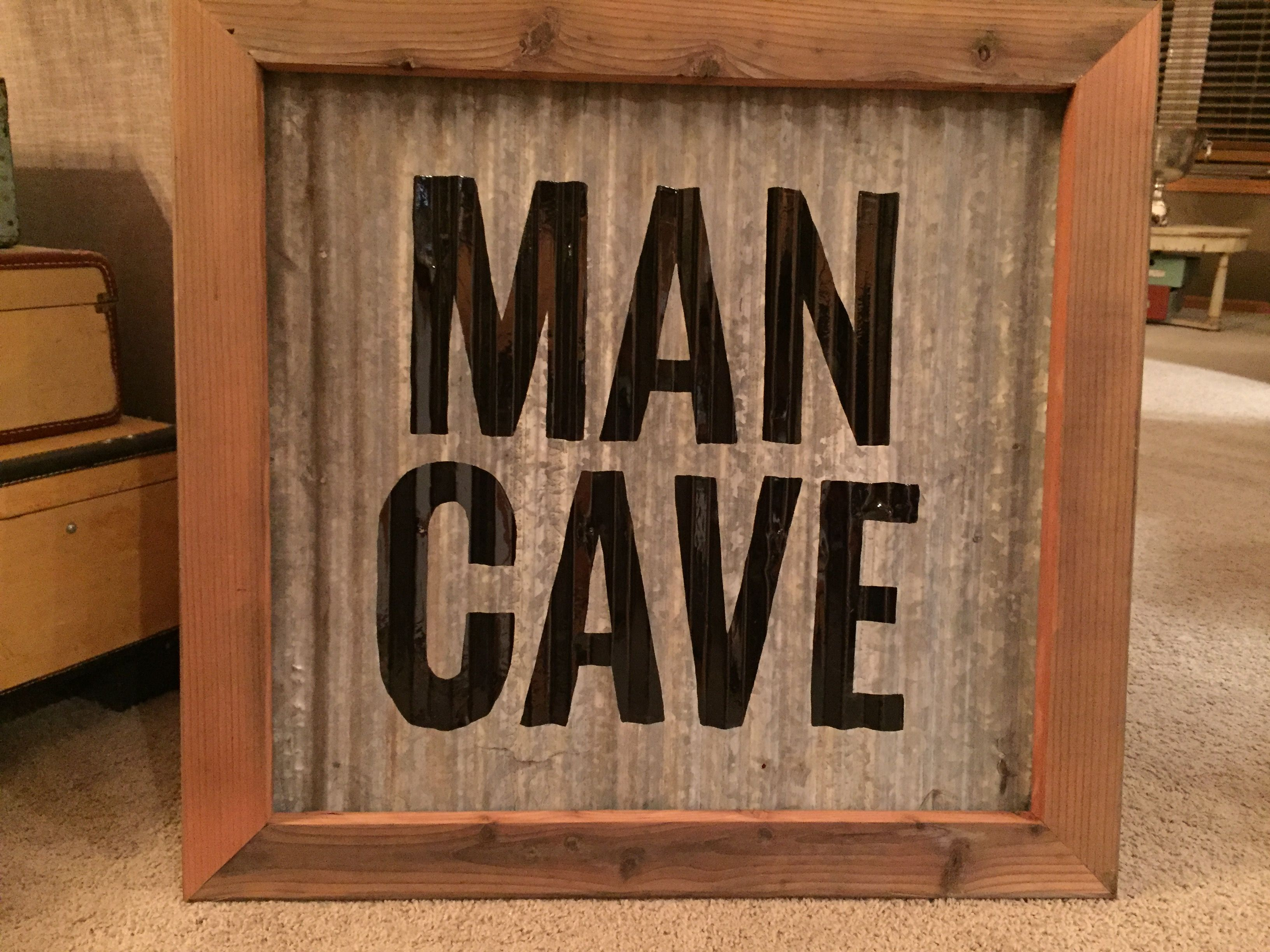 Hand Painted Man Cave Sign On