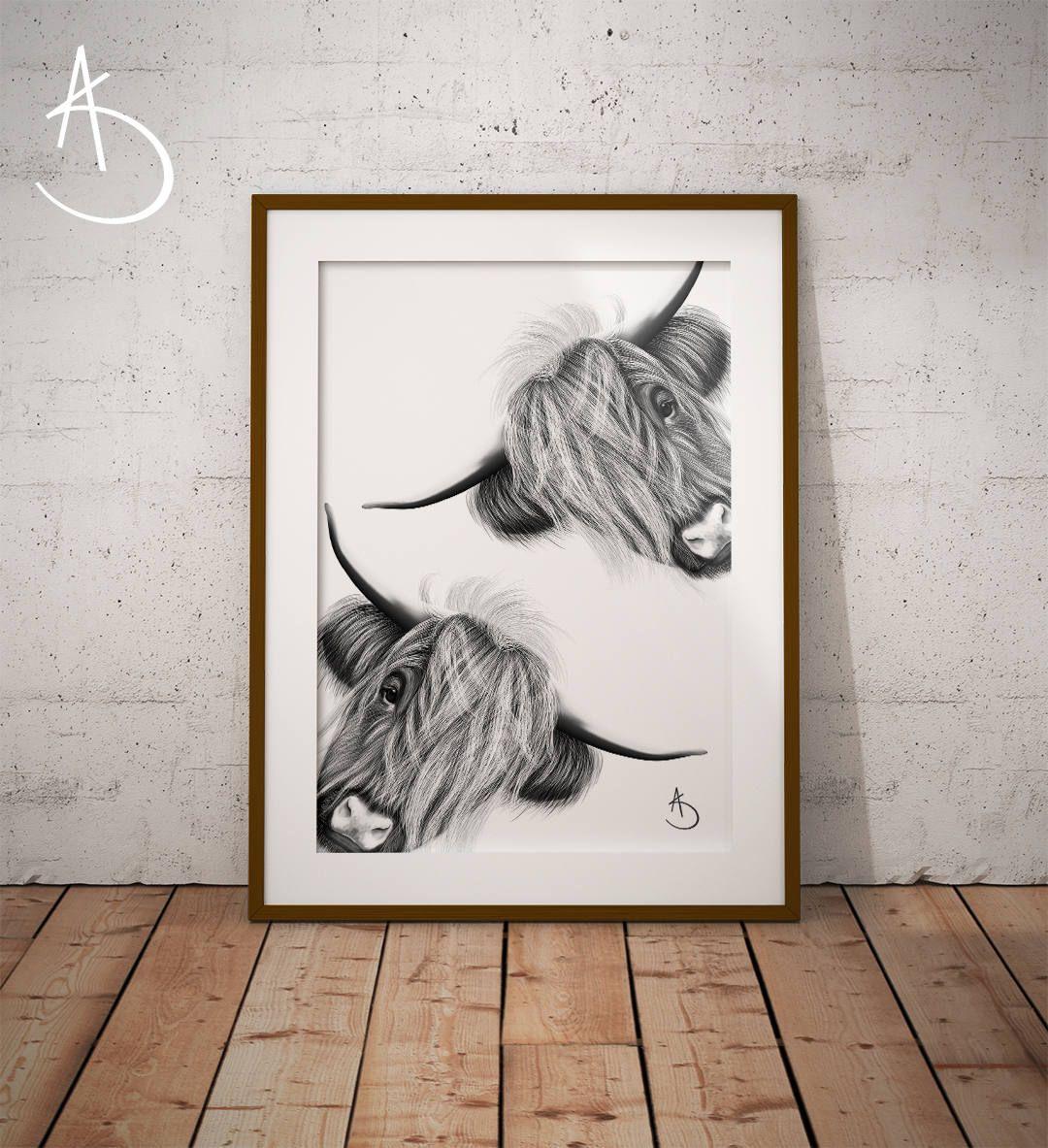 Highland Cow Print Download Print Highland Cow Art