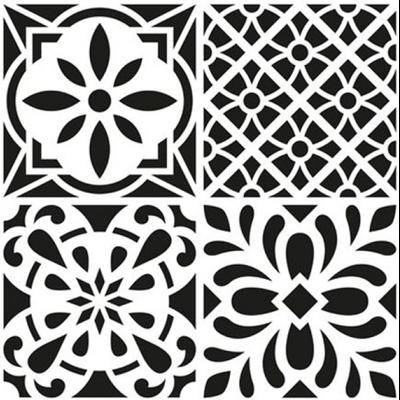 pochoir multi usage carreaux de ciment rosace 30x30cm. Black Bedroom Furniture Sets. Home Design Ideas