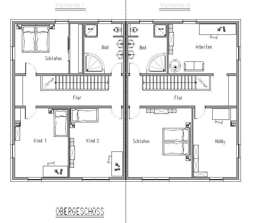 doppelhaush lfte gerade treppe house plan pinterest house. Black Bedroom Furniture Sets. Home Design Ideas
