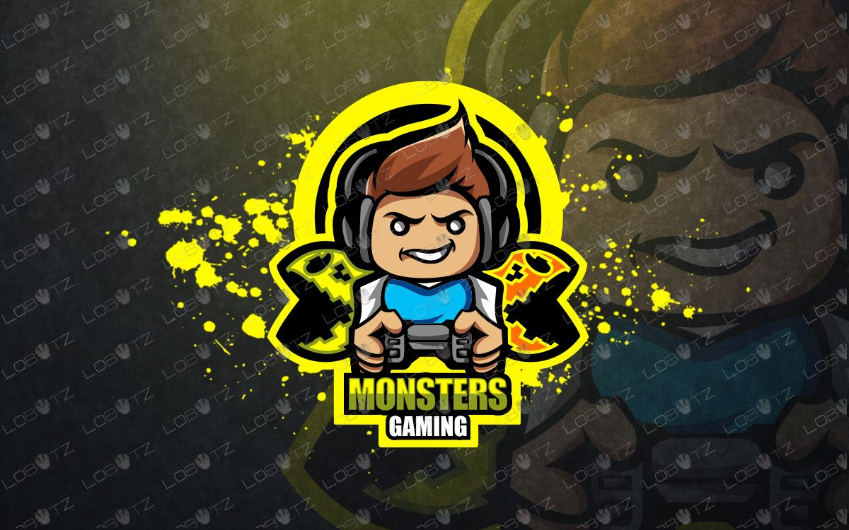 Amazing Monster Gamer Logo Premade Gaming Logo Lobotz Game Logo Monster Games Logo Character
