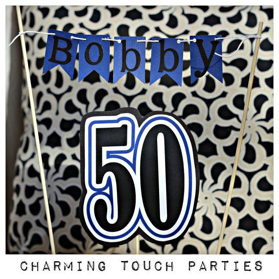 30th 40th 50th 60th birthday cake topper by CharmingTouchParties