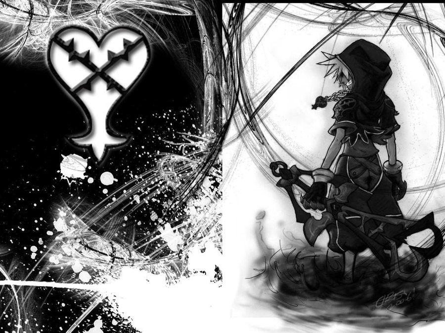 Sora Kingdom Hearts Lineart : Kingdom hearts ii hooded sora inch huge wallposter