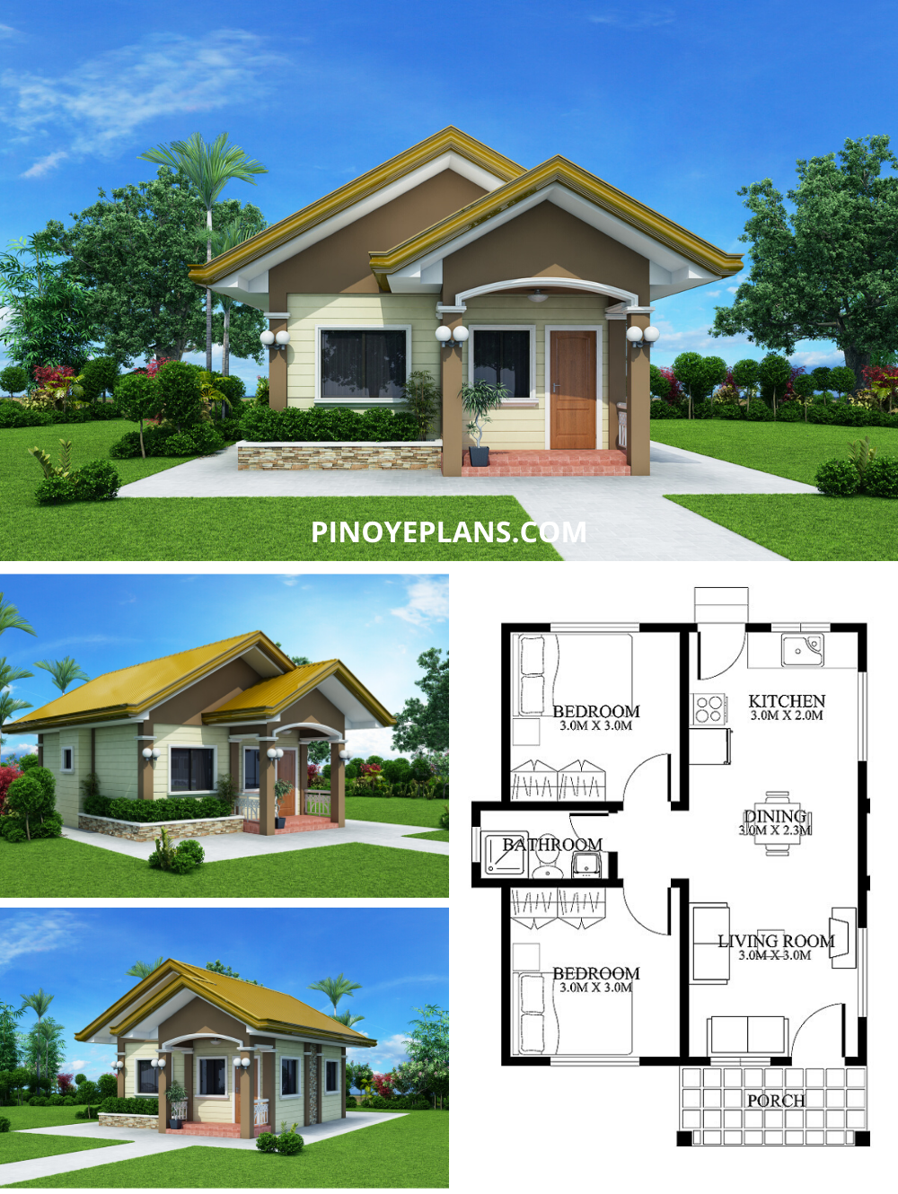 Small House Designs Shd 2012001 Pinoy Eplans Philippines House Design Small House Model Small House Design