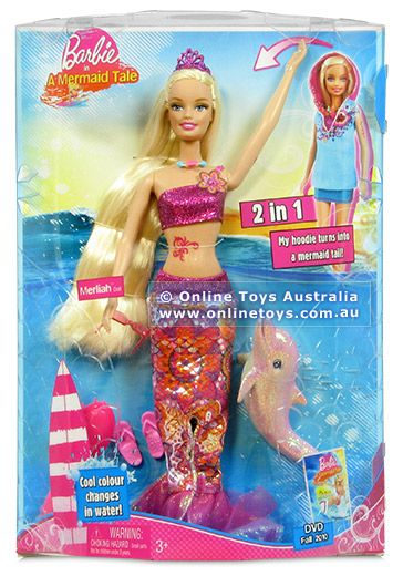 Barbie In A Mermaid Tale 2 In 1 Merliah Doll Mermaid Tale