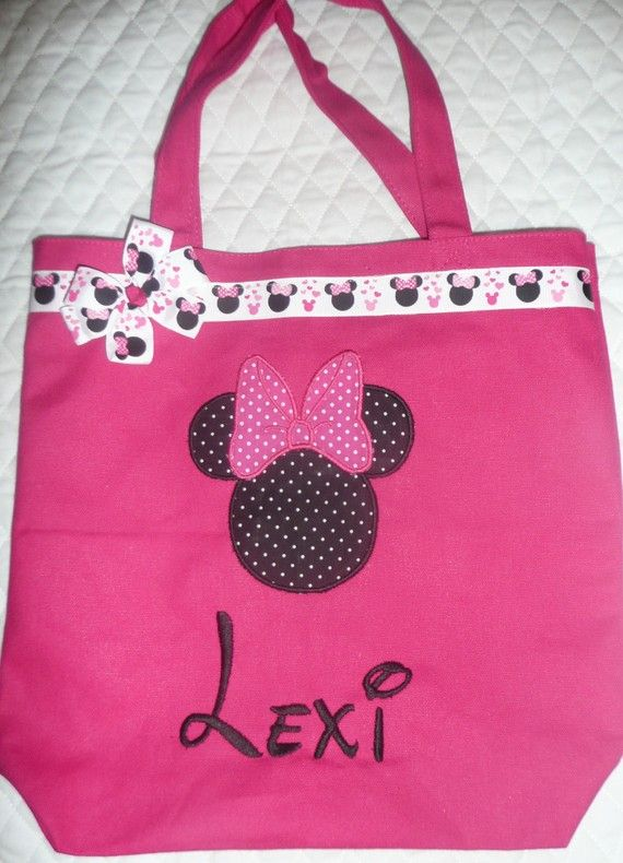 144b5355a Personalized Tote Bag, Personalized Tote, Minnie Mouse Tote Bag, Minnie  Mouse Tote,