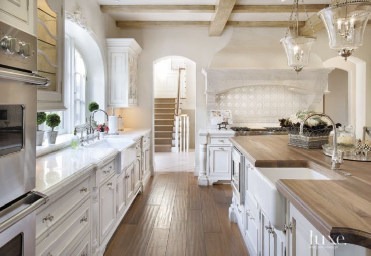 The kitchen\'s honey-hued walnut planks from Bradford\'s Fine ...
