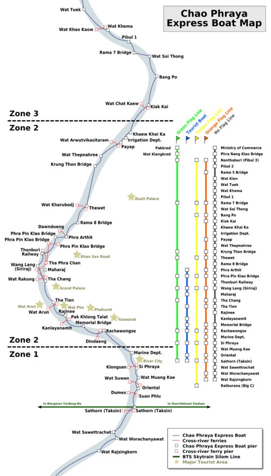 """Resultado de imagen de chao phraya boat map 2019"""""""