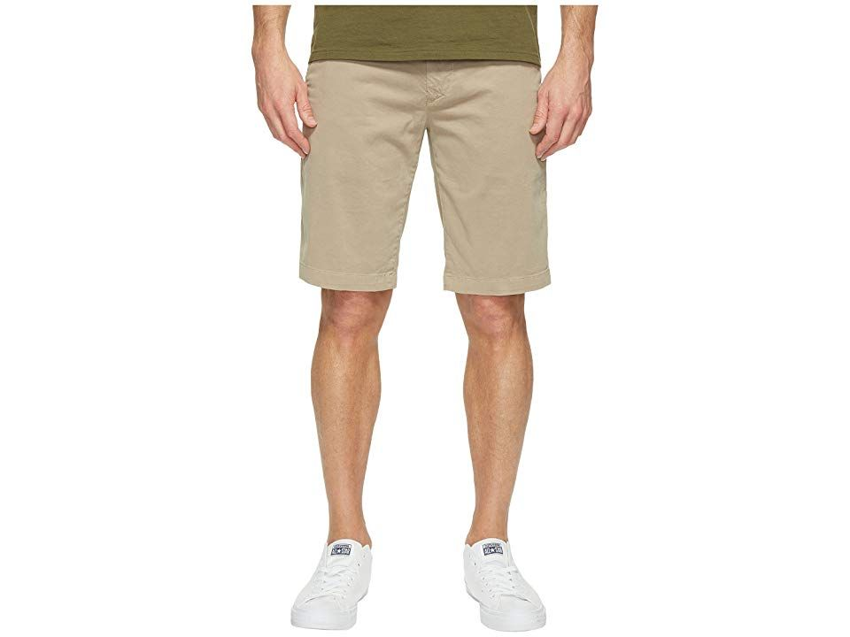 AG Adriano Goldschmied Griffin Shorts in Desrt Stone Desrt Stone Mens Shorts A clean classic look Midrise shorts feature a tailored slim leg Desert Stone is a classic kha...