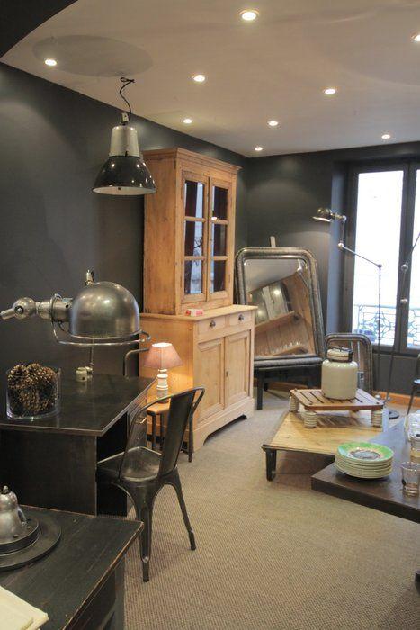 Esprit Industriel Et Récup Source Lafabriquesaintgermainfr - Deco salle a manger bois pour idees de deco de cuisine