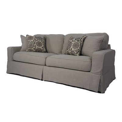 August Grove Columbus Box Cushion Sofa Slipcover Set | Products ...