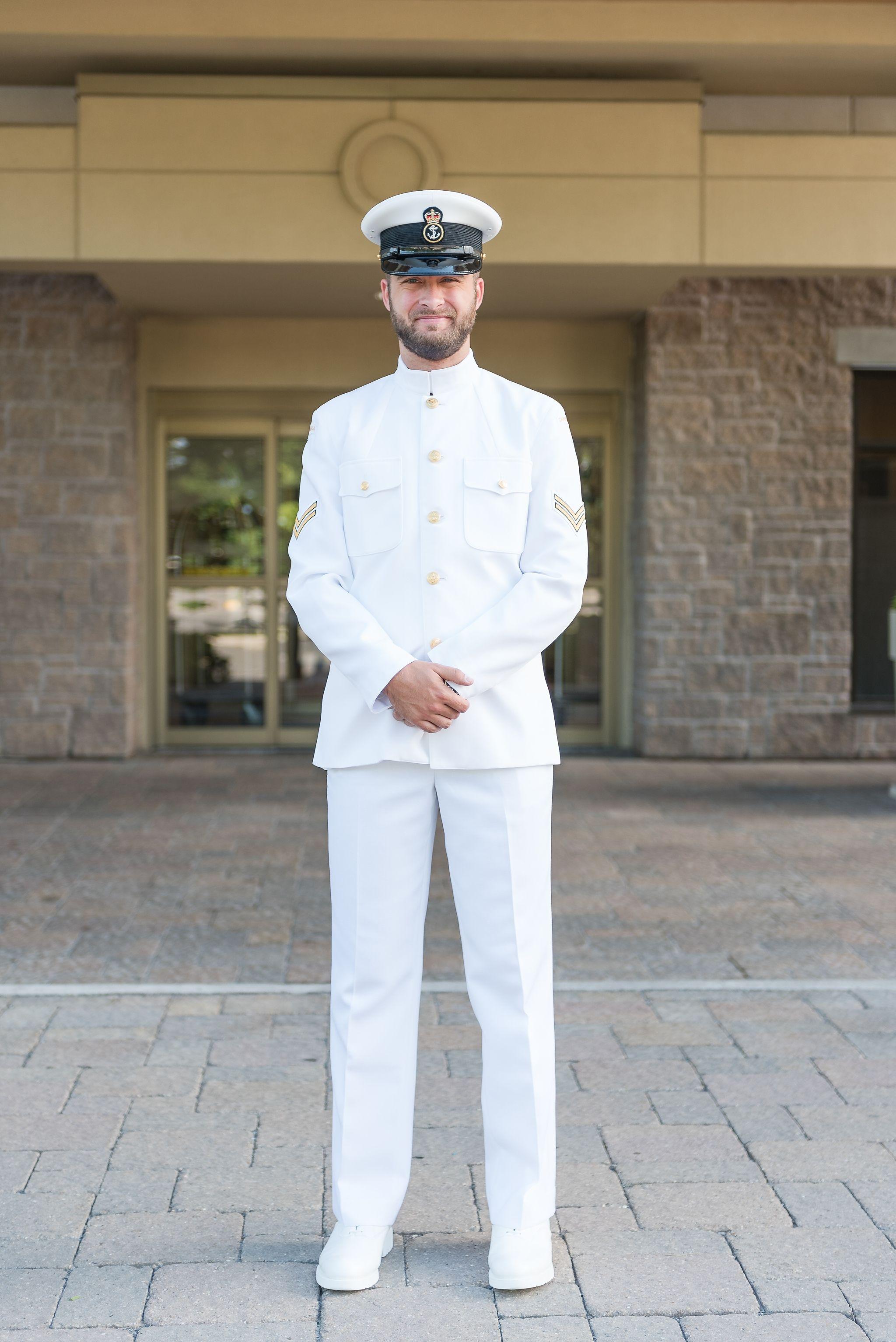 Stonebridge Golf Club Wedding Amanda Steve Navy White Uniform Royal Canadian Navy Golf Club Wedding
