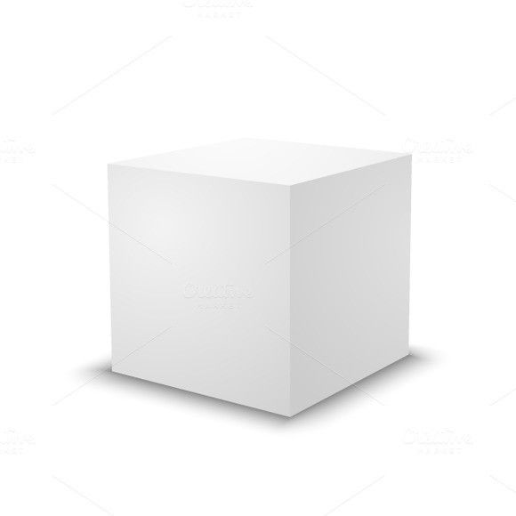 Blank white cube on white background Best Objects Pinterest - blank brochure