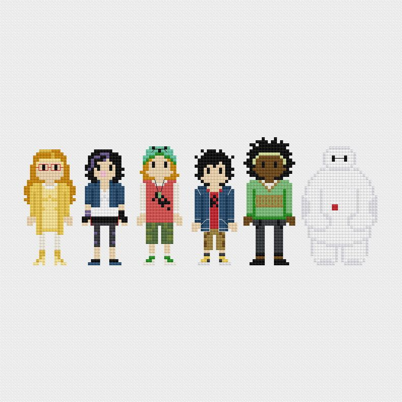 Big Hero 6 Cross Stitch Pattern PDF Instant Download by pixelsinstitches on Etsy https://www.etsy.com/listing/218758259/big-hero-6-cross-stitch-pattern-pdf
