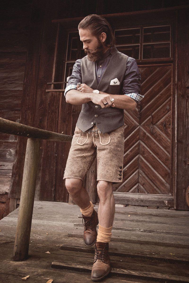 Cocovero Men Lederhosen Und Trachtenhemd Und Weste Mannerkleidung Lederhose Manner Kleidung