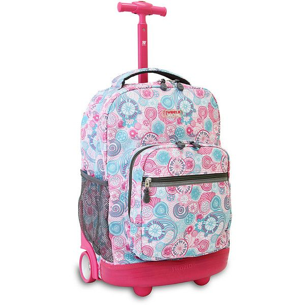 j world new york sunrise rolling backpack 48 liked on polyvore featuring bags