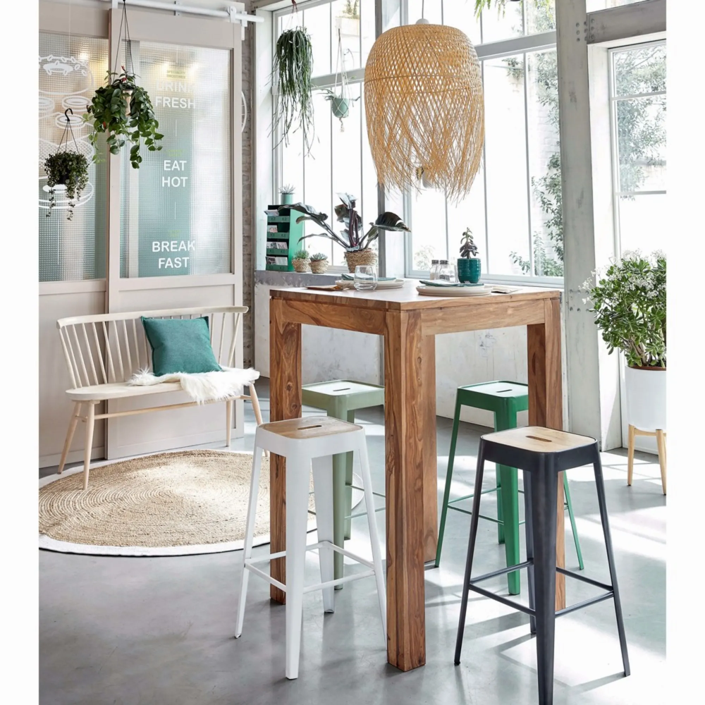 Tavolo da pranzo alto professionale in legno massello di ...