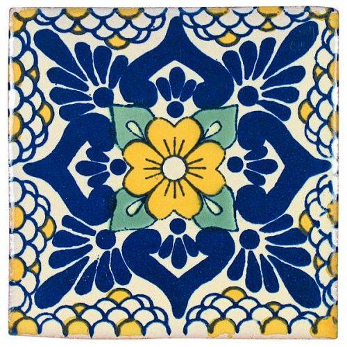Blue Yellow Talavera Tiles