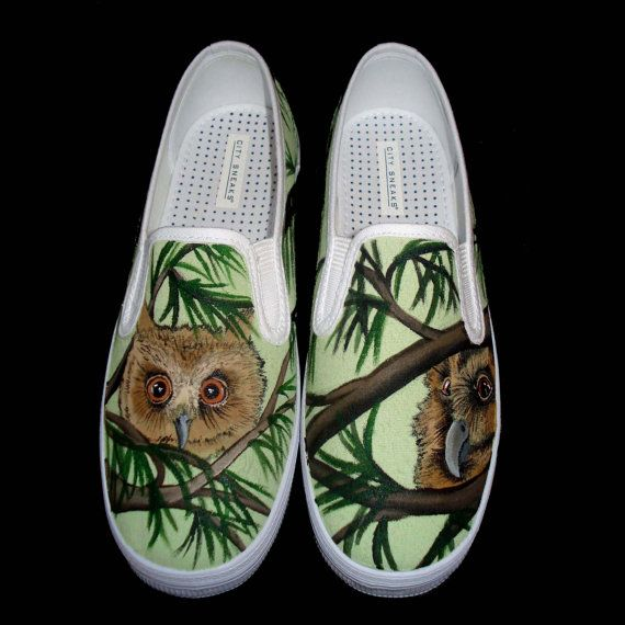 Hand Painted Vans Owls by TKDealShoes on Etsy, $145.00