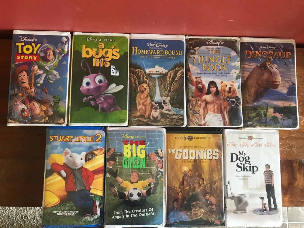 Lot Of 9 Vhs Movies Disney The Goonies My Dog Skip Stuart Little 2 Stuart Little Vhs Movie Stuart Little 2