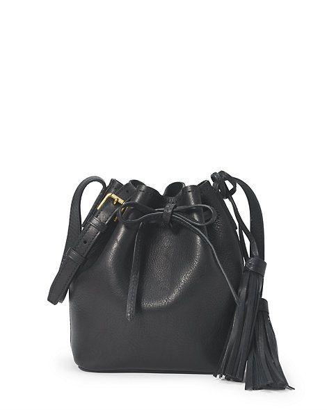 ac99d66e96 Polo Ralph Lauren - Mini sac seau en cuir