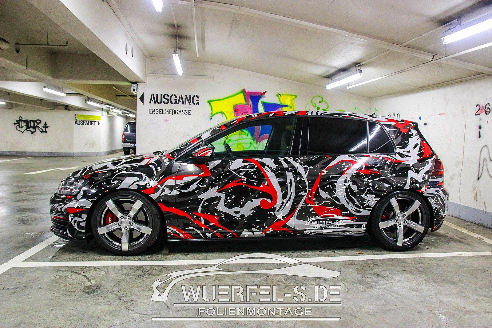 Camo vw golf gti design by ttstudio car wrap