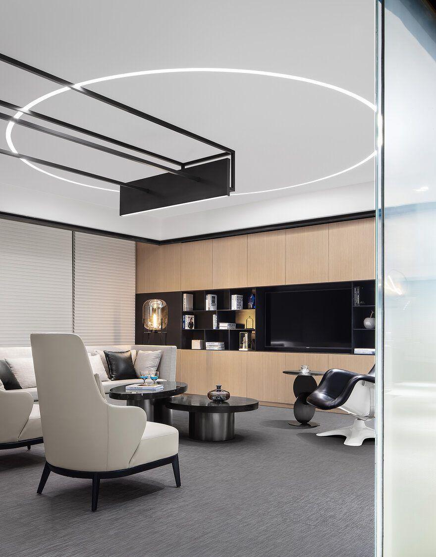 Future Metropolitan Sample Office For Poly Real Estate By Cun Design Office Design Modern Office Design Design