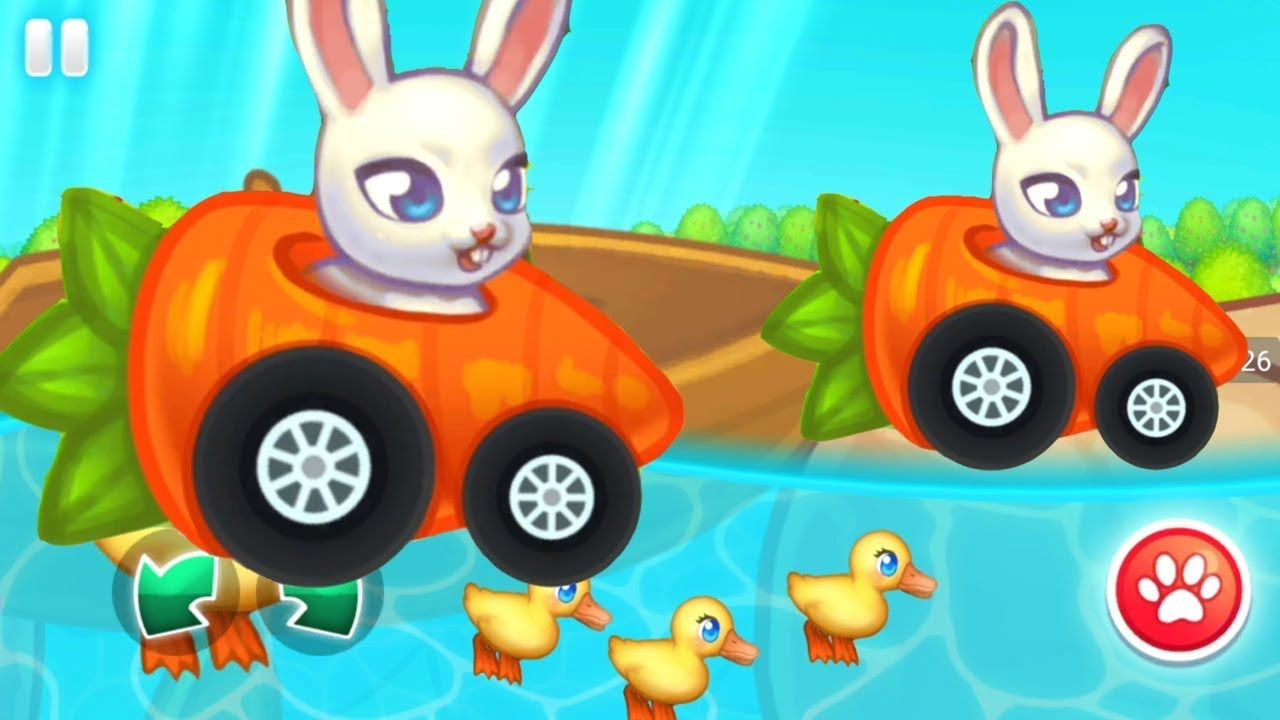 racing games for kids rabbit race with duck cars for kids