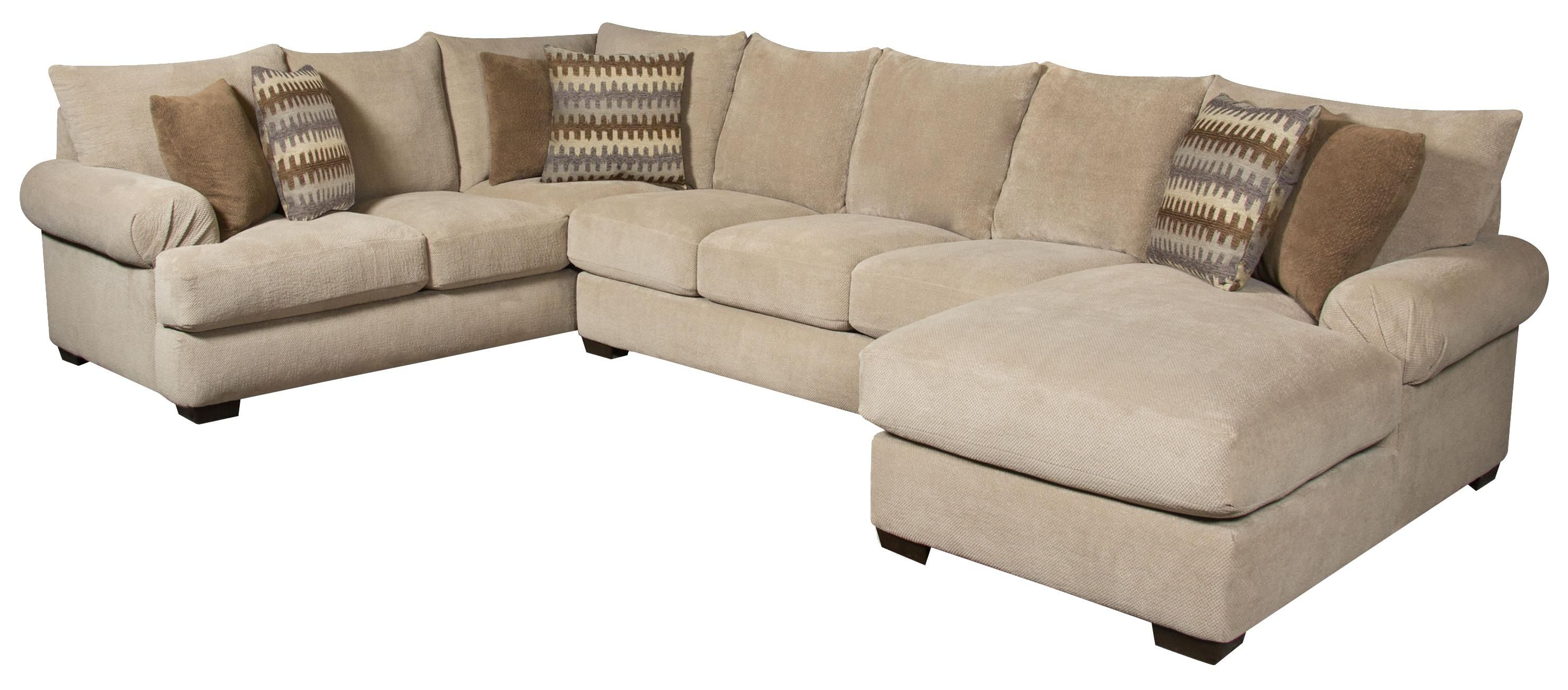 Best 61A0 Sectional Sofa With Right Side Chaise By Corinthian 400 x 300