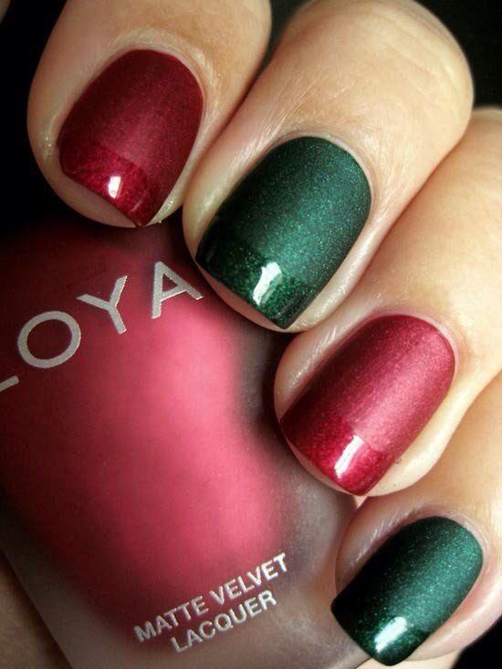 Christmas color nails
