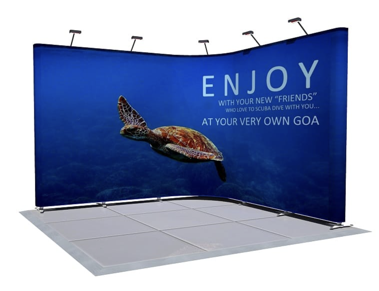 Wall Graphic Display Stand