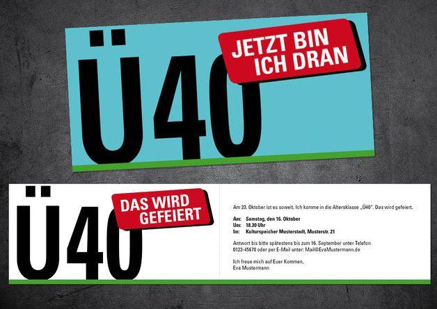 einladung zum 40. geburtstag: Ü40 | einladung zum 40 geburtstag, Einladungsentwurf