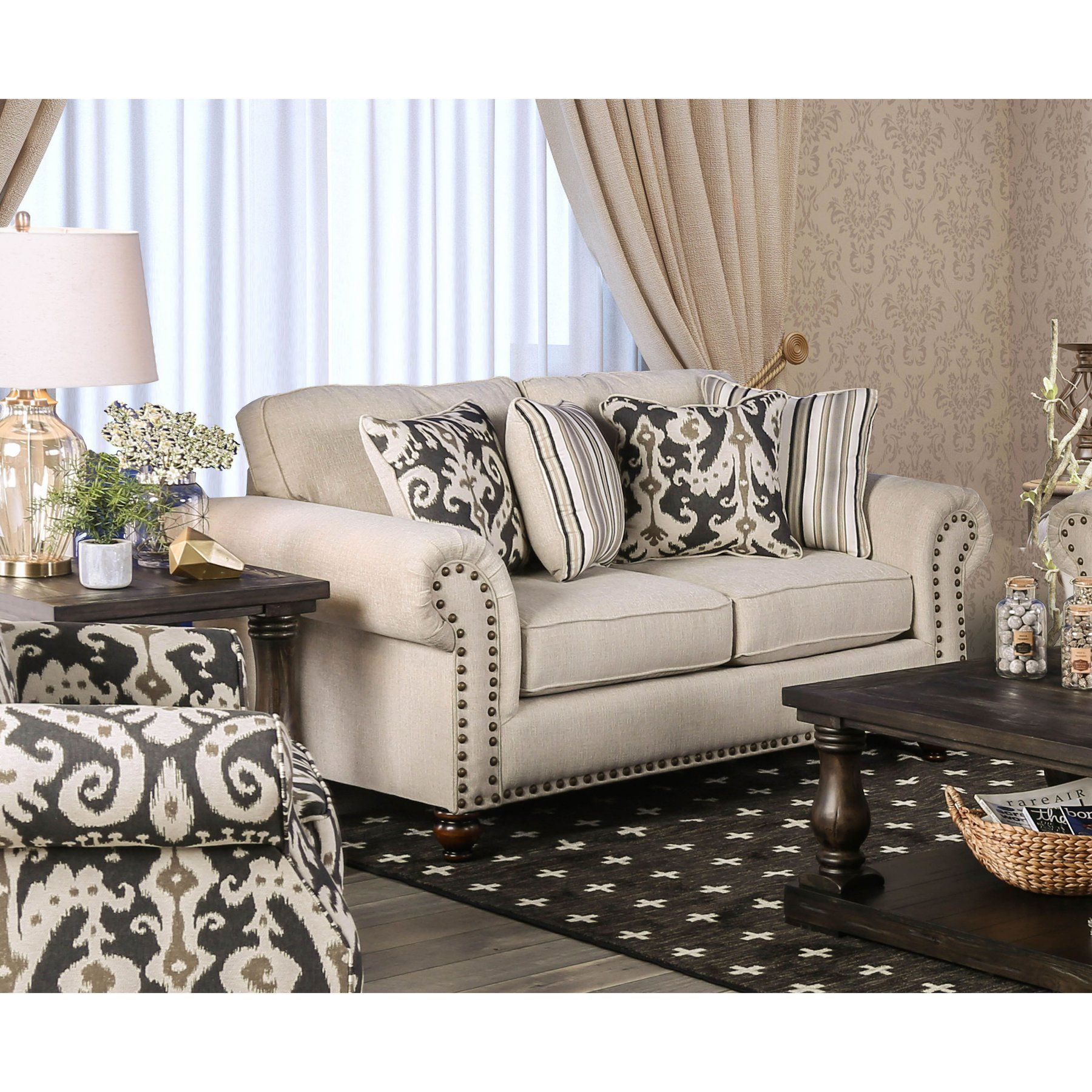 Serta Upholstery Wheatfield Sofa Furniture Of America Norwald Loveseat Idf 8111 Lv Products