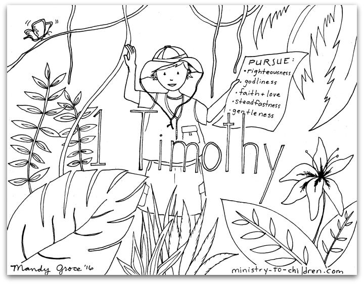 1 Timothy Bible Book Coloring Page Coloring Pages Timothy Bible