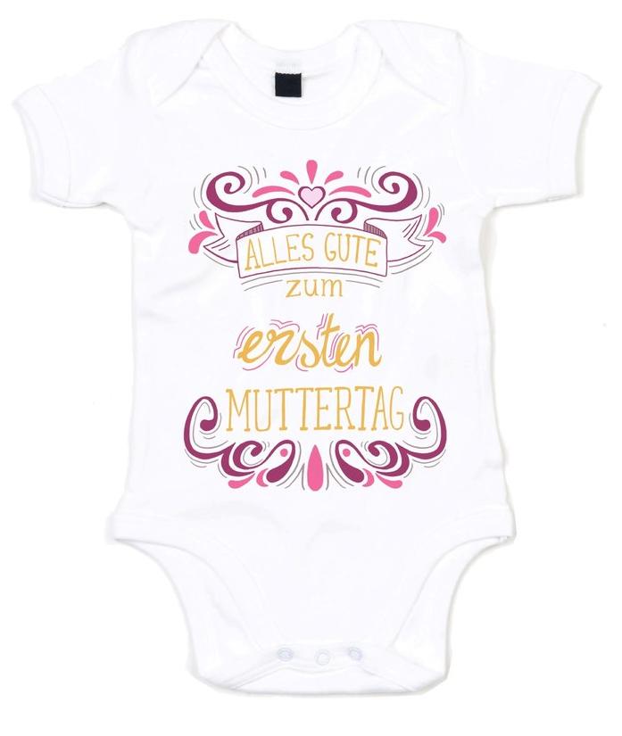 Alles Gute zum ersten Muttertag Shirtracer Muttertag Baby Baby Body Langarm