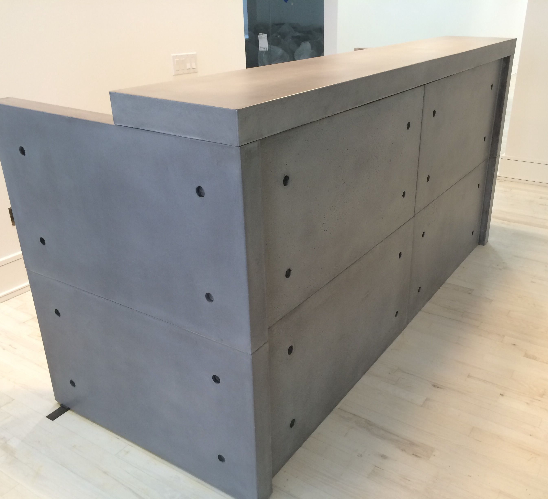 Custom Desk Designs custom made concrete reception desk | salon inspo | pinterest