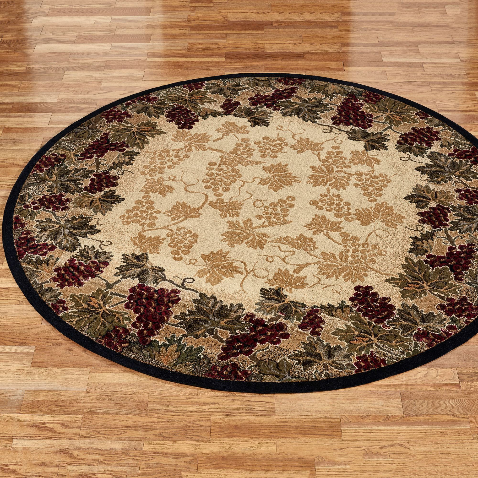 Beaujolais Ii Grape Round Rug Area Rug Decor Round Area Rugs Round Rugs