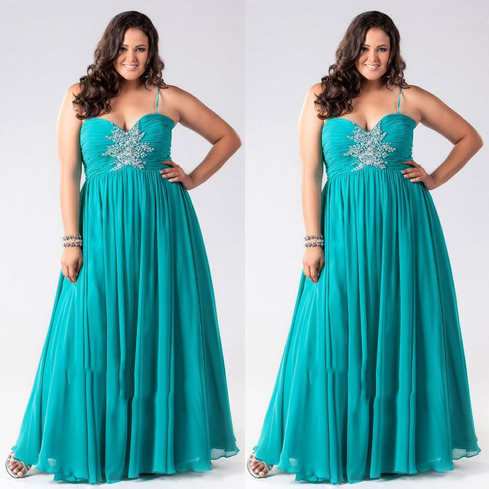 Find a Sexy Turquoise/Green Prom Dresses Plus Size Spaghetti Straps ...