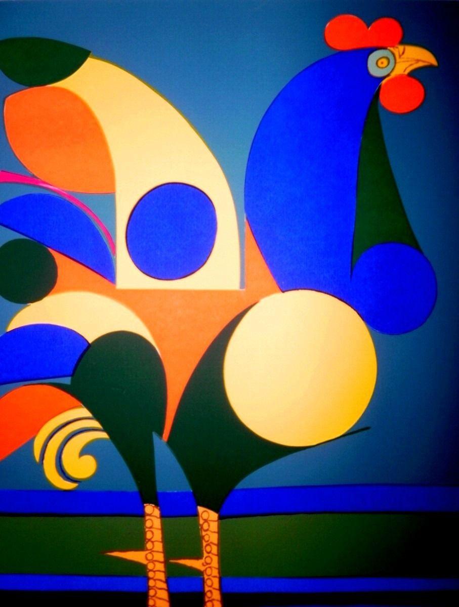 Galo V Aldemir Martins Com Imagens Pintura De Galo