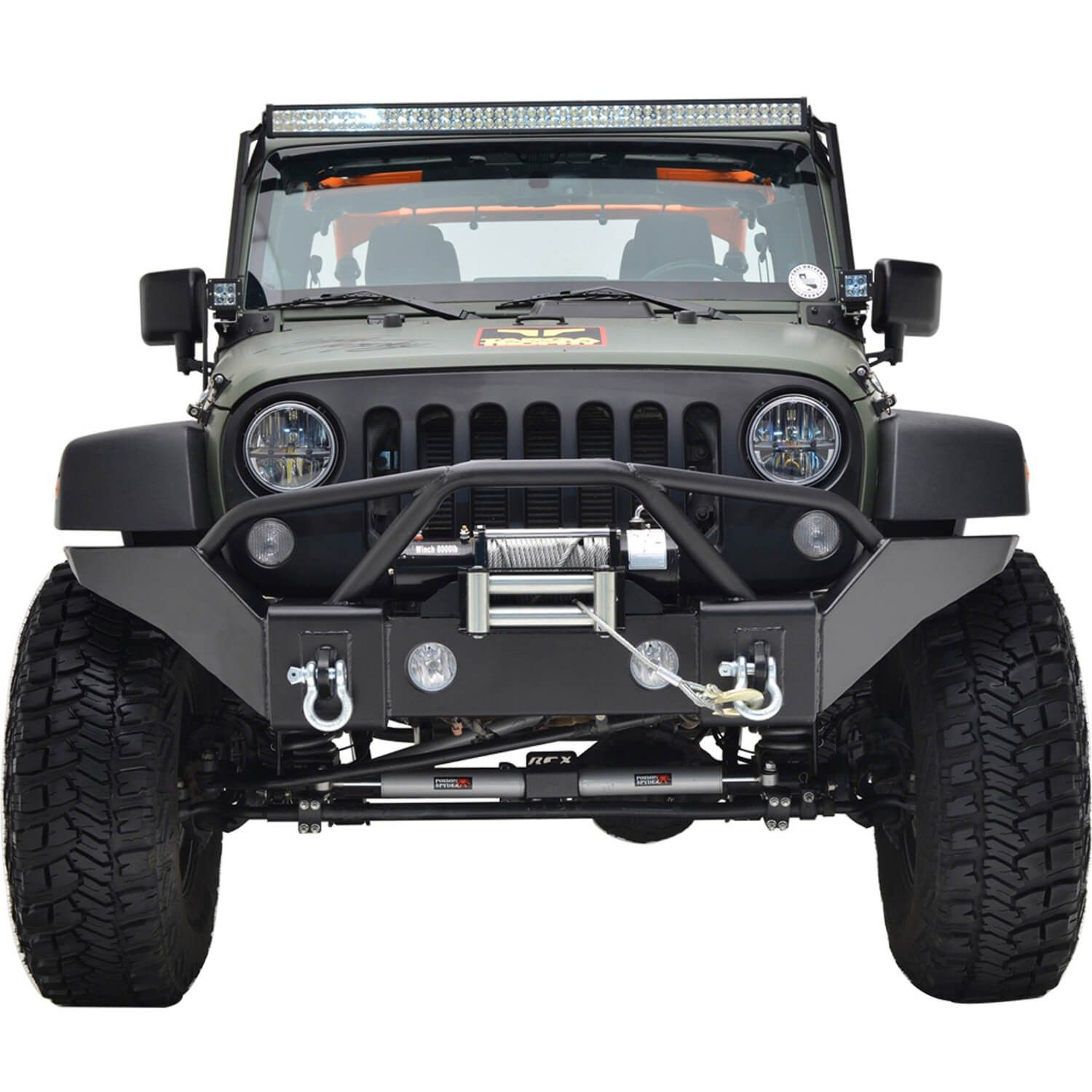 07 16 Jeep Wrangler Jk R6 Full Width Front Bumper Jeep Bumpers