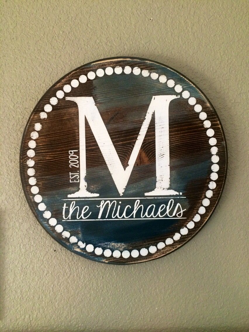 Unique Gifts Family Part - 42: Unique Gifts, Family Name Sign, Distressed Monogram, Home Decor,  Personalized Sign,