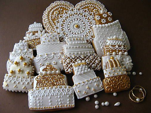Dolinka / medovníčky -svadobné torty WG- bal. 10 ks