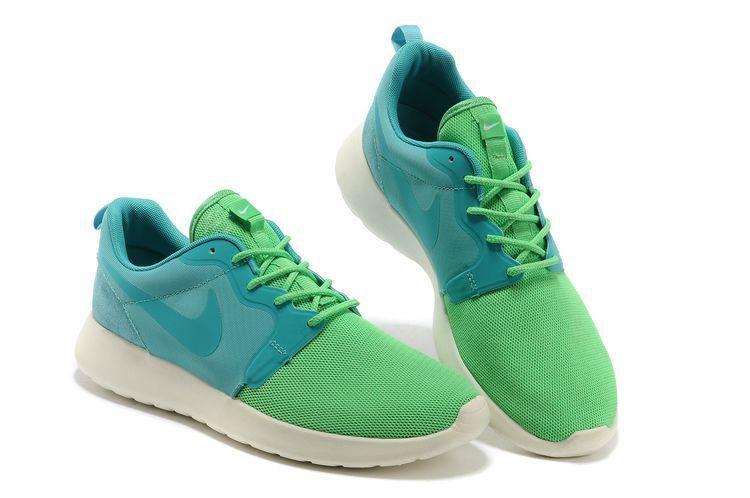 Nike Roshe Run Mens Blue Green White Mesh-Cheap Nike Free,Cheap Nike Free